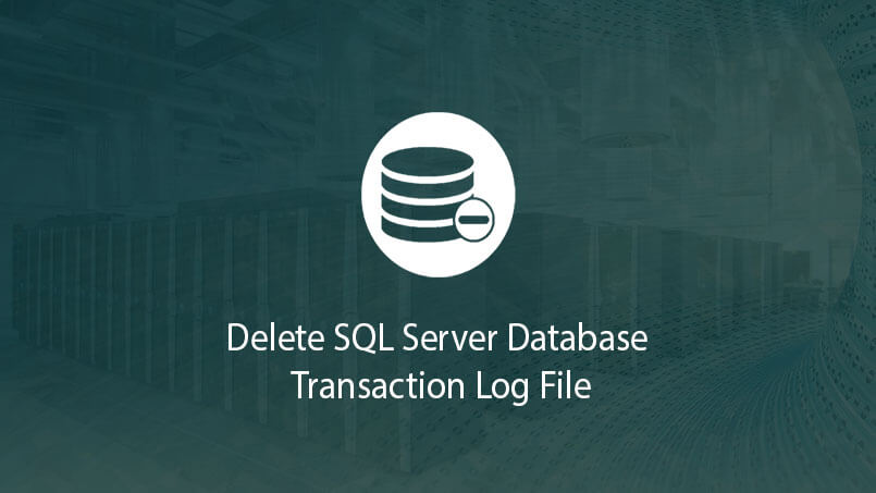 Delete SQL Server Database Transaction Log File